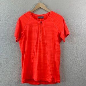 Athleta Pacifica Short Sleeve Neon Orange Large